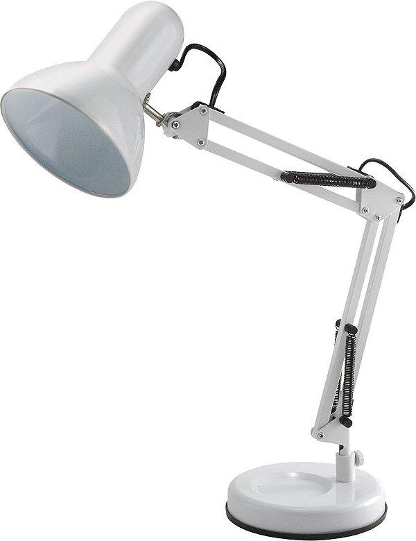 Luminária De Mesa Empire Branco 60cm Articulável