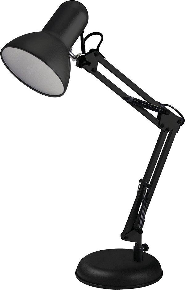 Luminária De Mesa Empire Preta 60cm Articulável