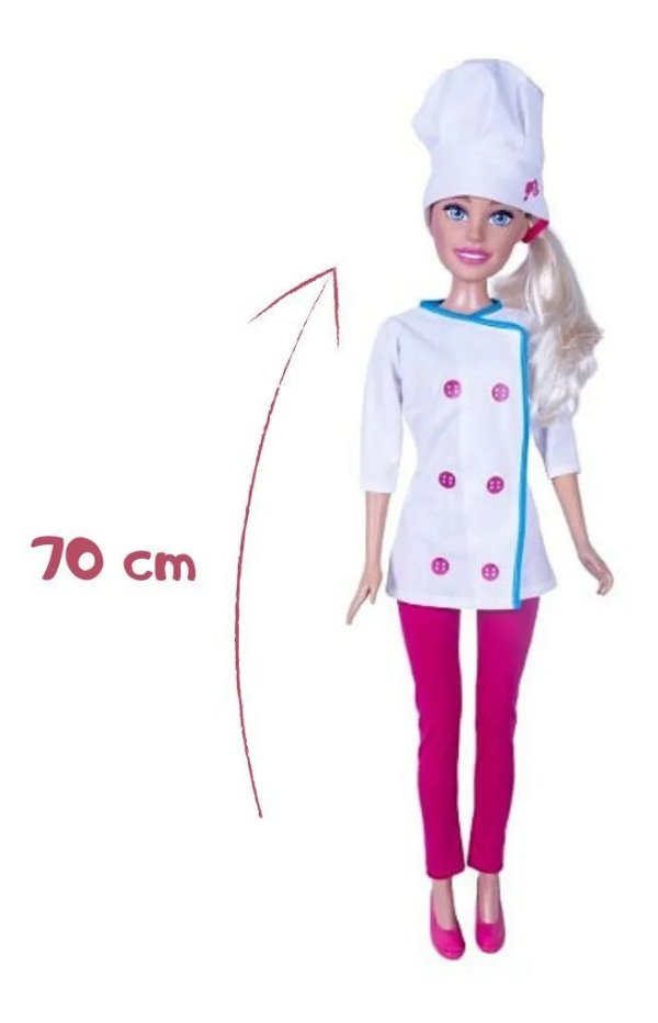 Barbie Chef de Cozinha Articulada 70CM Original Mattel