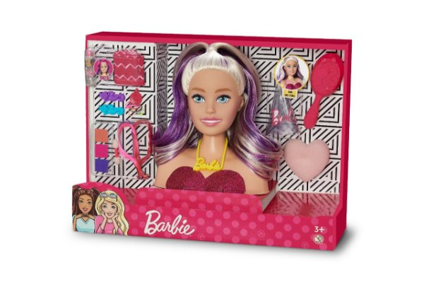 Busto Barbie Maquiagem - Styling Faces Licenciado Mattel
