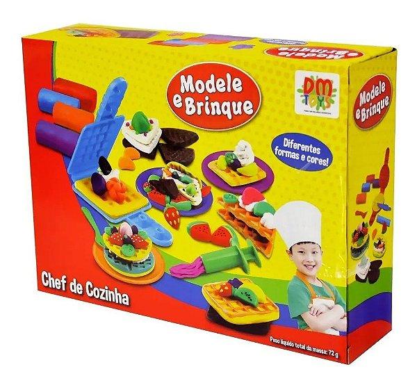 Massinha de modelar modele e brinque Kit Chefe De Cozinha