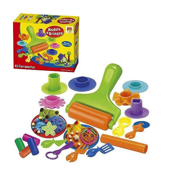 Massinha de modelar modele brinque Kit Ferramentas Infantil