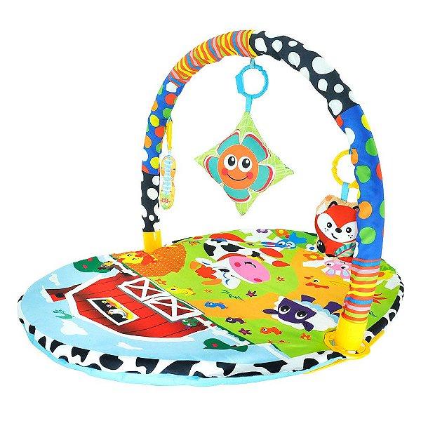 Tapete de Atividades Infantil para Bebê Portátil com Móbiles