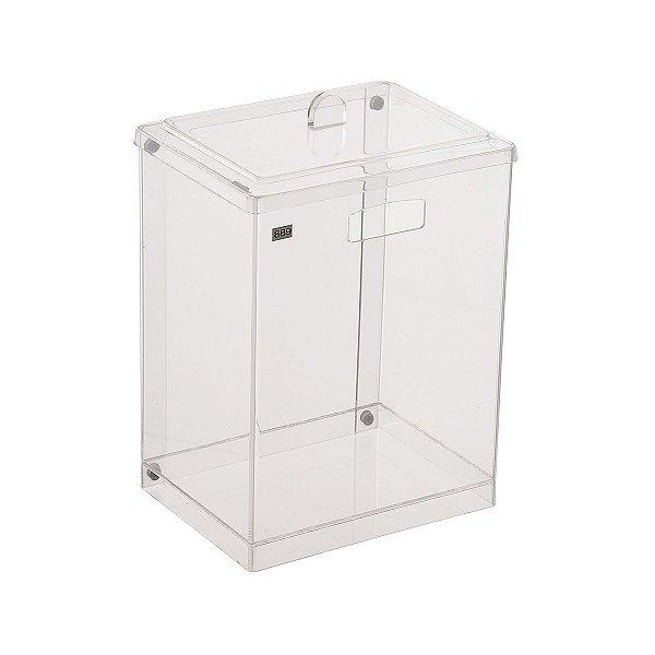 Cesto Retangular 100% Acrílico p/ Escritório Banheiro Lavabo Cristal