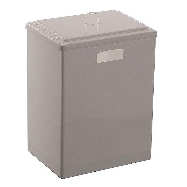 Cesto Retangular 100% Acrílico p/ Escritório Banheiro Lavabo Branco