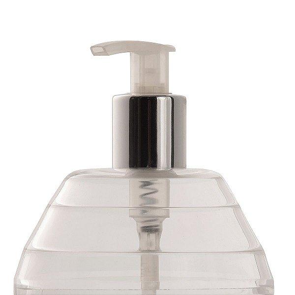 Dispenser de Mesa Álcool em Gel e Sabonete Líquido Cristal