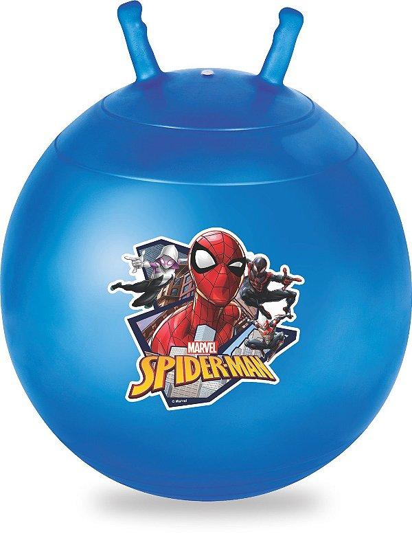 Bola Pula Pula Homem Aranha Upa Upa Spiderman Azul 60cm 25kg