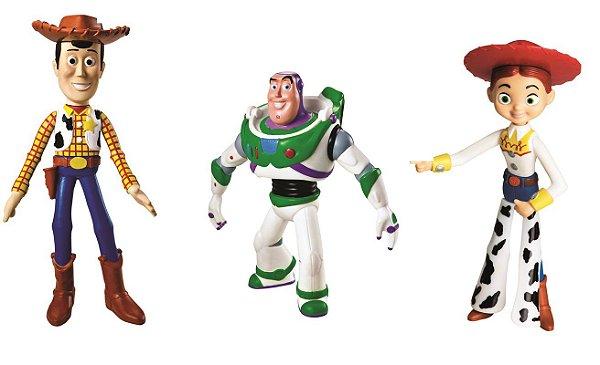 Coleção Toy Story Woody Buzz Jessie Vinil Líder Brinquedos