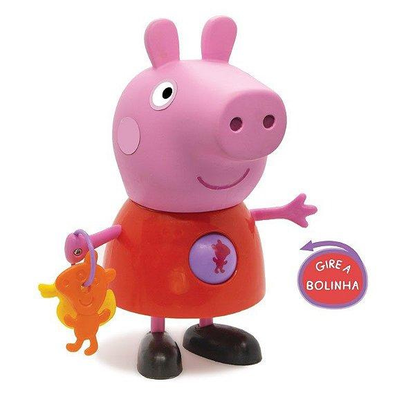 Boneca Peppa Pig com Atividades Elka - 24cm em Vinil Atóxico