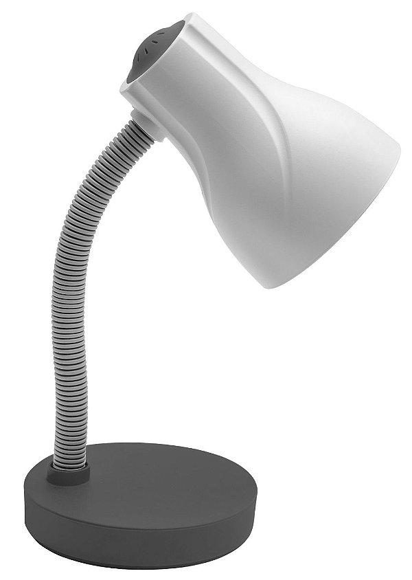 Luminária De Mesa Direcionável Spiralle E-27 20w Cinza