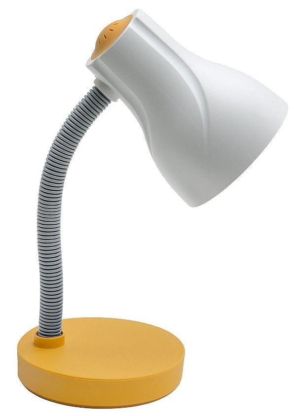 Luminária De Mesa Direcionável Spiralle E-27 20w Amarela