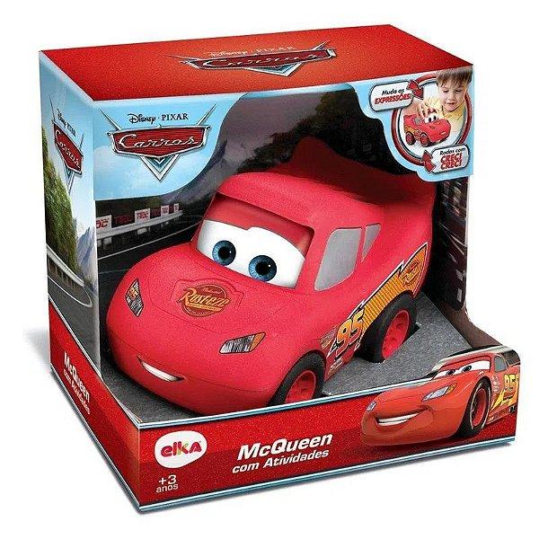 Carrinho Relâmpago Mcqueen Carros Disney Com Atividades Elka
