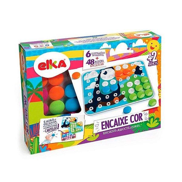 Jogo Infantil Encaixe Cor Monte e Associe as Cores - Elka
