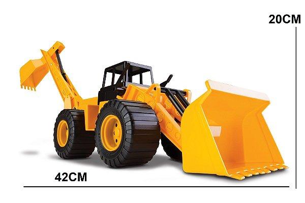 Caminhão de Brinquedo Retroescavadeira Trator Combo Cardoso Toys