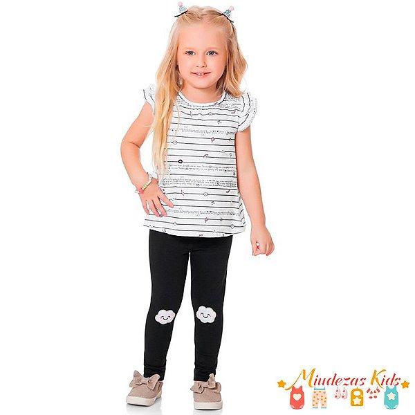 Conjunto Camiseta com Legging Fakini Kids