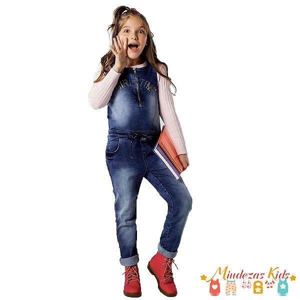 Macacão Jeans Parizi Girl Time