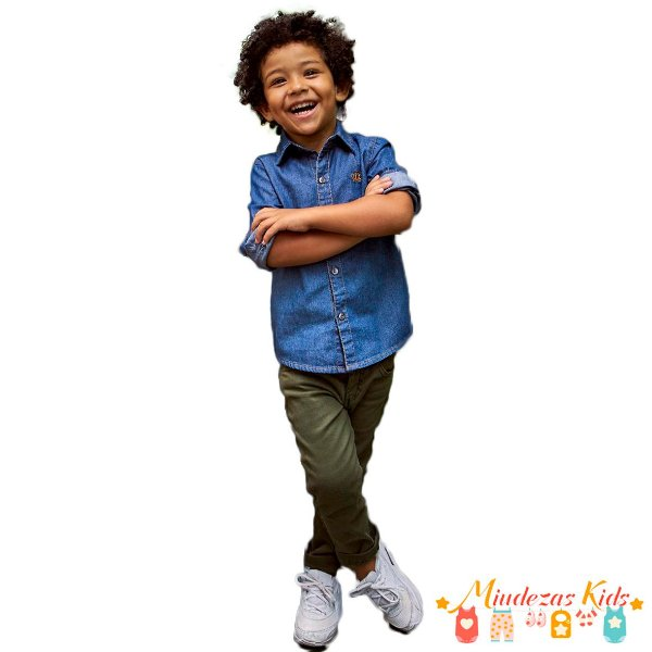 Conjunto Camisa Jeans e Calça de Sarja Opera Kids