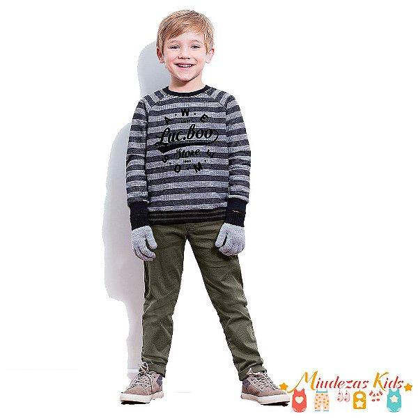 Conjunto de blusão de moletom e calça de sarja Luc.boo - BLK1