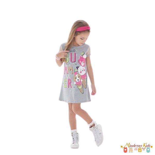 Vestido em cotton Le Petit Kukiê - BLK
