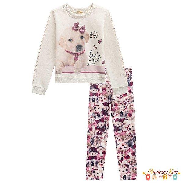Conjunto Blusão e Legging Cachorrinho Le Petit Kukiê