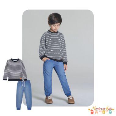 Conjunto de blusão de moletom e calça jogger Luc.boo
