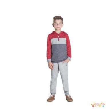 Conjunto de blusão e calça de moletom Luc.boo