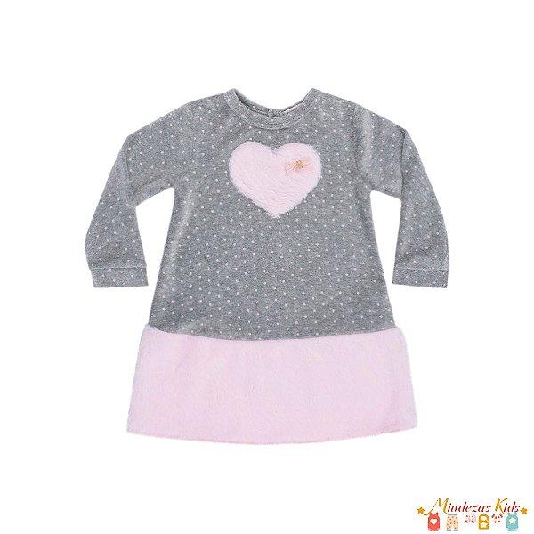 Vestido em plush com pelo Le Petit Kukiê Baby