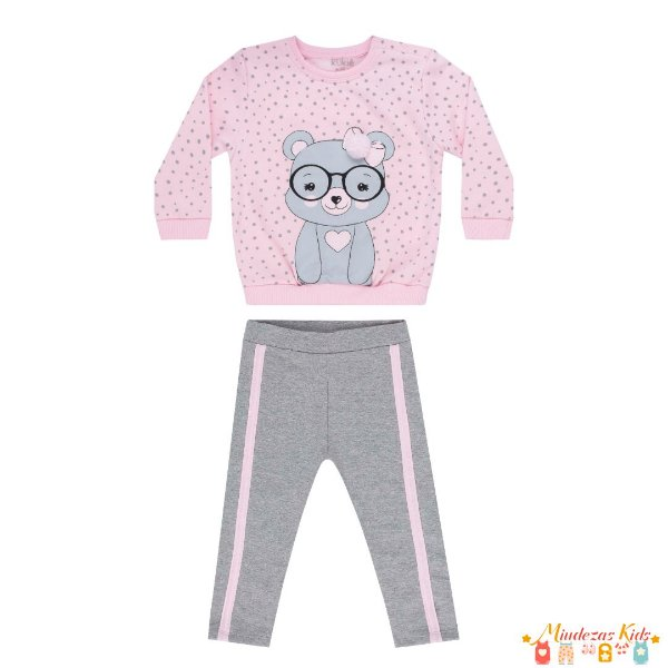 Conjunto de blusão em moletom e legging em molecotton Le Petit Kukiê Baby