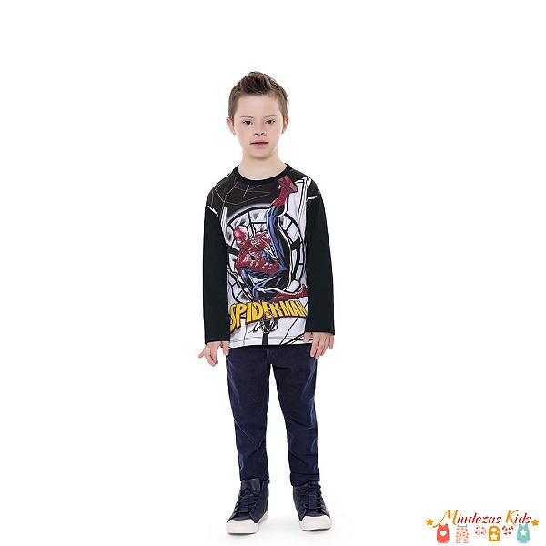 Camiseta Homem Aranha (Spiderman) Fakini - BLK1