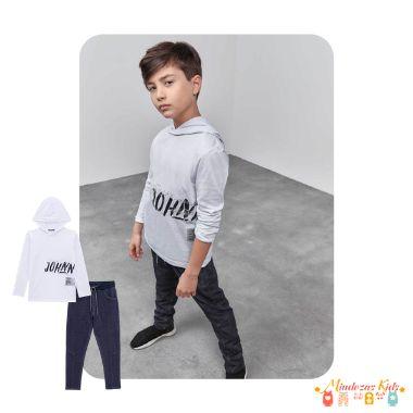 Camiseta em meia malha e calça Jogger Johnny Fox