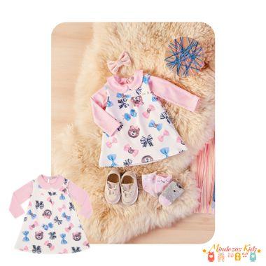 Conjunto Vestido e Body Ursinhas Le Petit Kukiê Baby