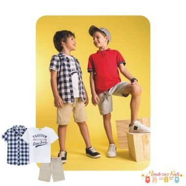 Conjunto trio Camisa, camiseta e Bermuda Luc.Boo - v