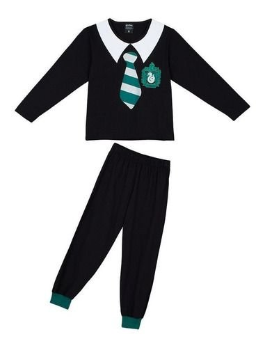 Pijama Menino Harry Potter Lupo - BLK1