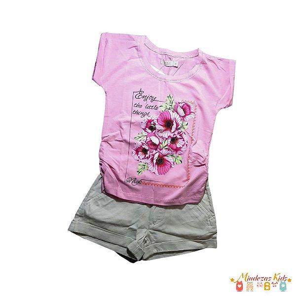 Conjunto Blusa e Shorts de Sarja Trick Nick - BLK1