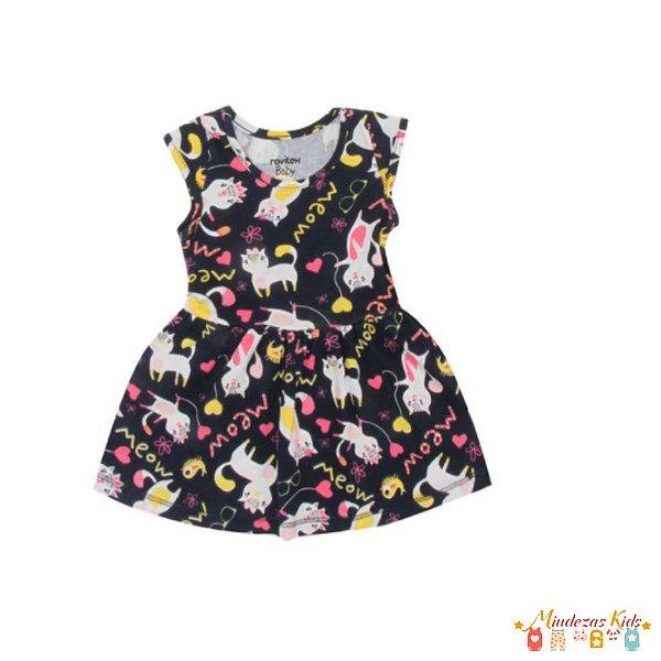 Vestido Rovitex Bebê Menina Preto - BLK1