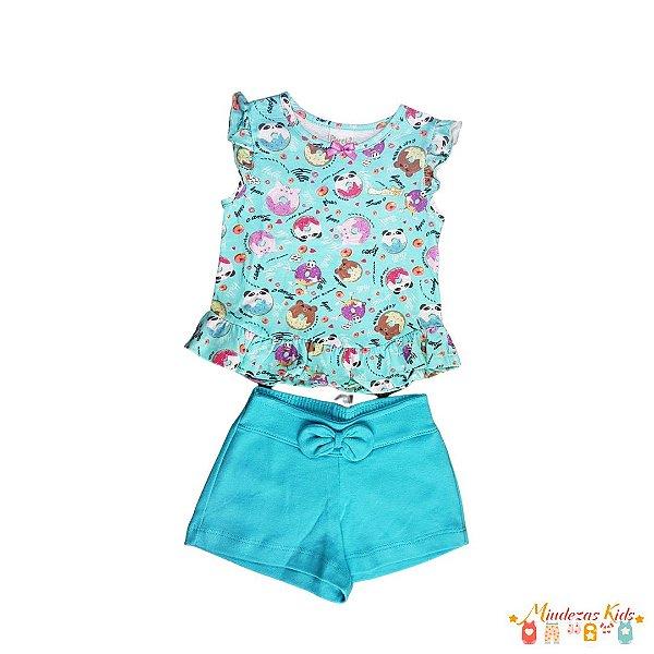 Conjunto blusa com shorts Planeta Pano - BLK2