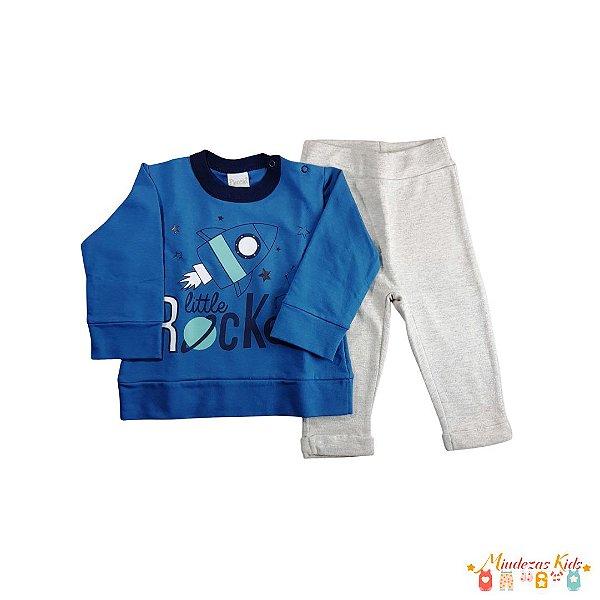 Conjunto de blusa e calça de moletom Planeta Pano