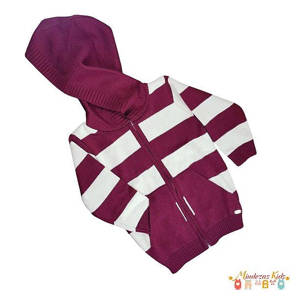 Jaqueta em lã com capuz Planeta Pano - BLK1