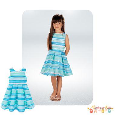Vestido Listras em Organza Le Petit Kukie