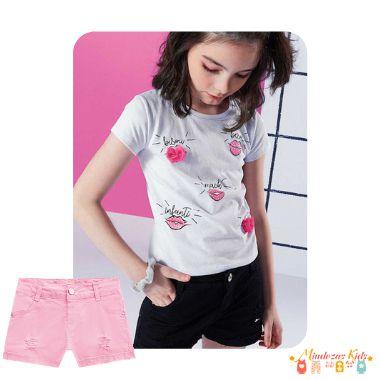 Shorts em sarja Infanti