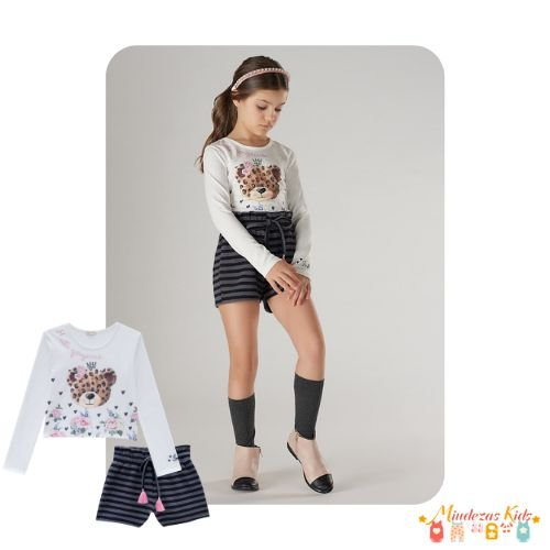 Blusa e short clochard Infanti