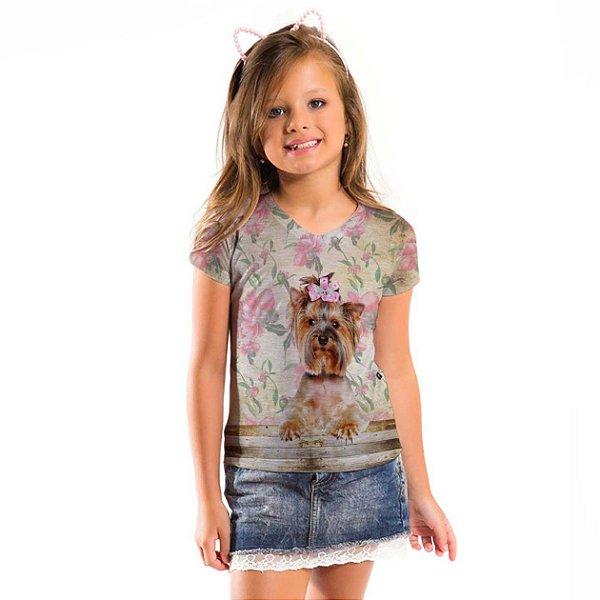 Blusa Florata Infantil Yorkshire
