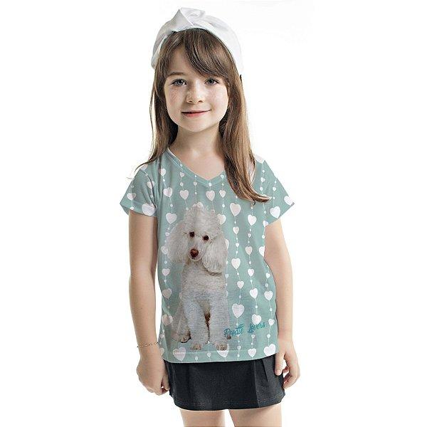 Blusa Florata Infantil Poodle