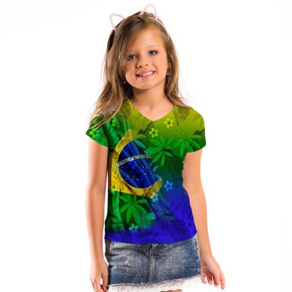 Blusa Florata Infantil Brasil