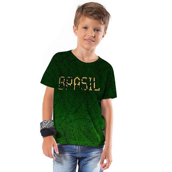 Camiseta Básica Infantil Brasil Verde