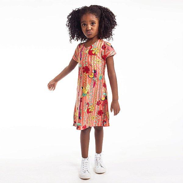 Vestido Curto Vanilla Infantil Arara