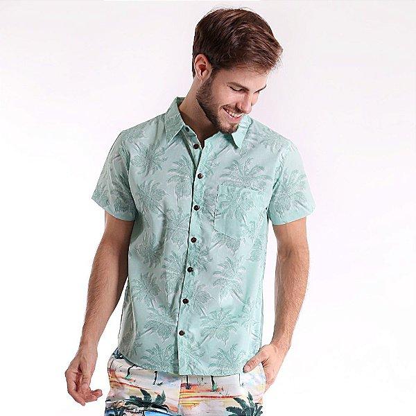 Camisa de Botão Adulto Coqueiros