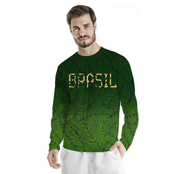 Blusa UV Adulto Brasil Verde