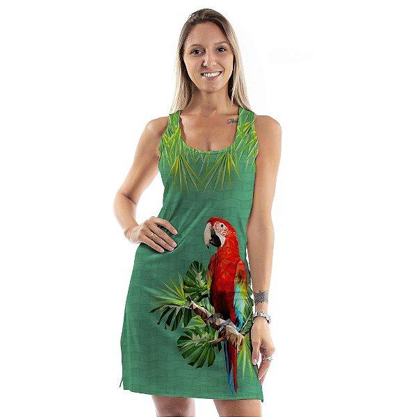 Vestido Curto Brisa Arara Vermelha
