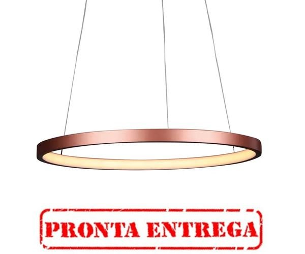 PRONTA ENTREGA / PENDENTE Quality Iluminação QPD1300-CO Lustre Redondo Esfera Cristal LED 20W 3000K COBRE 40X2CM Sala de Jantar Quarto e Cozinha